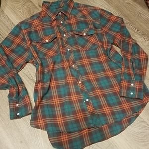 Cactus Brand Authentic Workwear Flannel Shirt